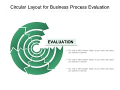 Circular Layout For Business Process Evaluation Ppt PowerPoint Presentation Model Infographics PDF