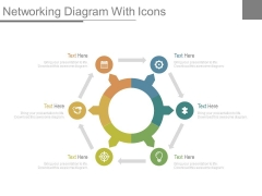 Circular Network Diagram With Icons Powerpoint Slides