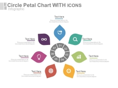 Circular Petal Chart With Icons Powerpoint Slides