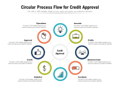 Circular Process Flow For Credit Approval Ppt PowerPoint Presentation Show Structure PDF
