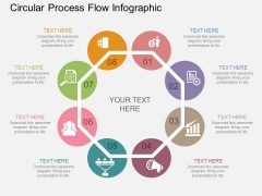 Circular Process Flow Infographic Powerpoint Template