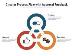 Circular Process Flow With Approval Feedback Ppt PowerPoint Presentation Pictures Model PDF