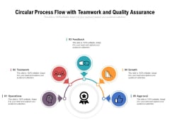 Circular Process Flow With Teamwork And Quality Assurance Ppt PowerPoint Presentation Professional PDF