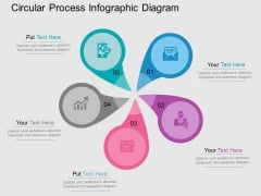 Circular Process Infographic Diagram Powerpoint Templates