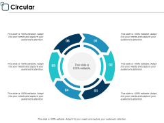 Circular Process Management Ppt PowerPoint Presentation Professional Slides