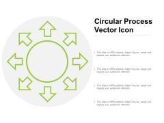 Circular Process Vector Icon Ppt PowerPoint Presentation Infographics Graphics Tutorials