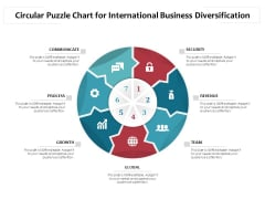 Circular Puzzle Chart For International Business Diversification Ppt PowerPoint Presentation Layouts Guidelines PDF