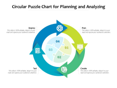 Circular Puzzle Chart For Planning And Analyzing Ppt PowerPoint Presentation Summary Diagrams PDF