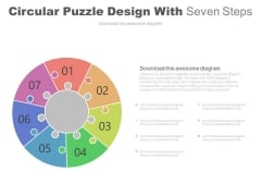 Circular Puzzle Design With Seven Steps Powerpoint Slides