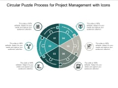 Circular Puzzle Process For Project Management With Icons Ppt PowerPoint Presentation Slides Portrait