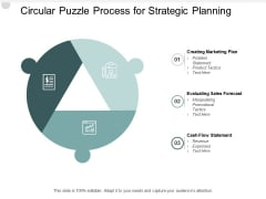 Circular Puzzle Process For Strategic Planning Ppt PowerPoint Presentation Ideas Outline