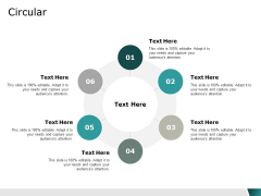 circular six process ppt powerpoint presentation summary visuals