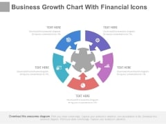 Circular Steps Chart With Financial Icons Powerpoint Slides