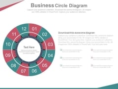 Circular Steps For Market Entry Strategy Powerpoint Slides