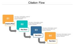 Citation Flow Ppt PowerPoint Presentation Ideas Background Image