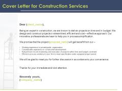 Civil Building Construction Proposal Cover Letter For Construction Services Template PDF