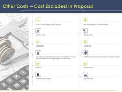 Civil Building Construction Proposal Other Costs Cost Excluded In Proposal Summary PDF