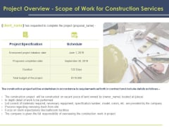 Civil Building Construction Proposal Project Overview Scope Of Work For Construction Services Background PDF