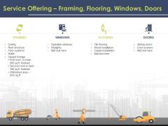 Civil Building Construction Proposal Service Offering Framing Flooring Windows Doors Clipart PDF