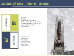Civil Building Construction Proposal Service Offering Interior Exterior Formats PDF