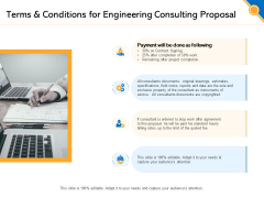 Civil Construction Terms And Conditions For Engineering Consulting Proposal Diagrams PDF