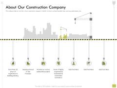 Civil Contractors About Our Construction Company Ppt Infographic Template Images PDF