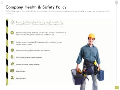 Civil Contractors Company Health And Safety Policy Ppt Professional Vector PDF
