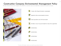 Civil Contractors Construction Company Environmental Management Policy Ppt Slides Clipart Images PDF