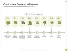 Civil Contractors Construction Company Milestones Ppt Pictures Slide Download PDF