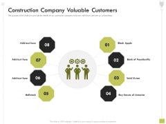 Civil Contractors Construction Company Valuable Customers Ppt Gallery Layout Ideas PDF