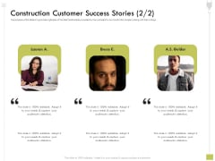 Civil Contractors Construction Customer Success Stories Customer Ppt Outline Demonstration