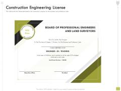 Civil Contractors Construction Engineering License Ppt Ideas Model PDF