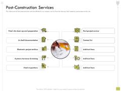 Civil Contractors Post Construction Services Ppt Pictures Format Ideas PDF