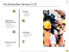 Civil Contractors Pre Construction Services Construction Ppt Ideas Guide PDF