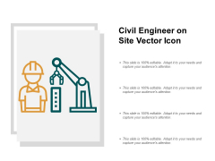 Civil Engineer On Site Vector Icon Ppt PowerPoint Presentation Infographics Information