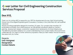 Civil Engineering Consulting Services Cover Letter For Civil Engineering Construction Services Proposal Elements PDF