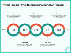 Civil Engineering Consulting Services Project Timeline For Civil Engineering Construction Proposal Clipart PDF