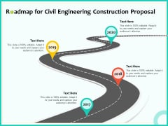 Civil Engineering Consulting Services Roadmap For Civil Engineering Construction Proposal Pictures PDF