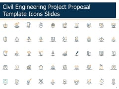 Civil Engineering Project Proposal Template Icons Slides Ppt Show Aids PDF