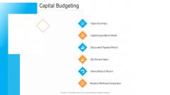 Civil Infrastructure Designing Services Management Capital Budgeting Brochure PDF