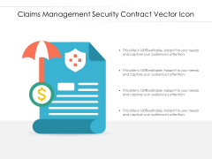 Claims Management Security Contract Vector Icon Ppt PowerPoint Presentation Ideas Graphics Example PDF
