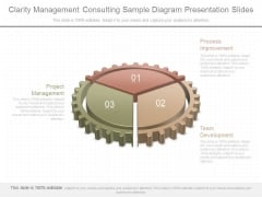 Clarity Management Consulting Sample Diagram Presentation Slides