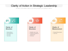Clarity Of Action In Strategic Leadership Ppt Powerpoint Presentation Show Design Templates Pdf