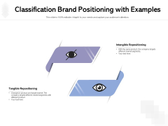 Classification Brand Positioning With Examples Ppt PowerPoint Presentation Slides PDF