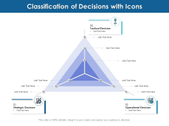 Classification Of Decisions With Icons Ppt PowerPoint Presentation File Designs PDF