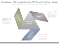 Classification Of Economic Activities Ppt Powerpoint Slides Design