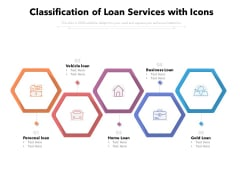 Classification Of Loan Services With Icons Ppt PowerPoint Presentation Icon Guidelines PDF