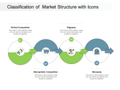 Classification Of Market Structure With Icons Ppt PowerPoint Presentation Professional Designs Download
