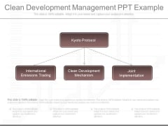 Clean Development Management Ppt Example