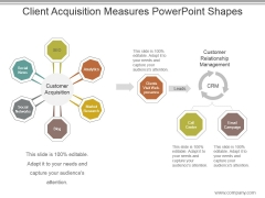 Client Acquisition Measures Powerpoint Shapes